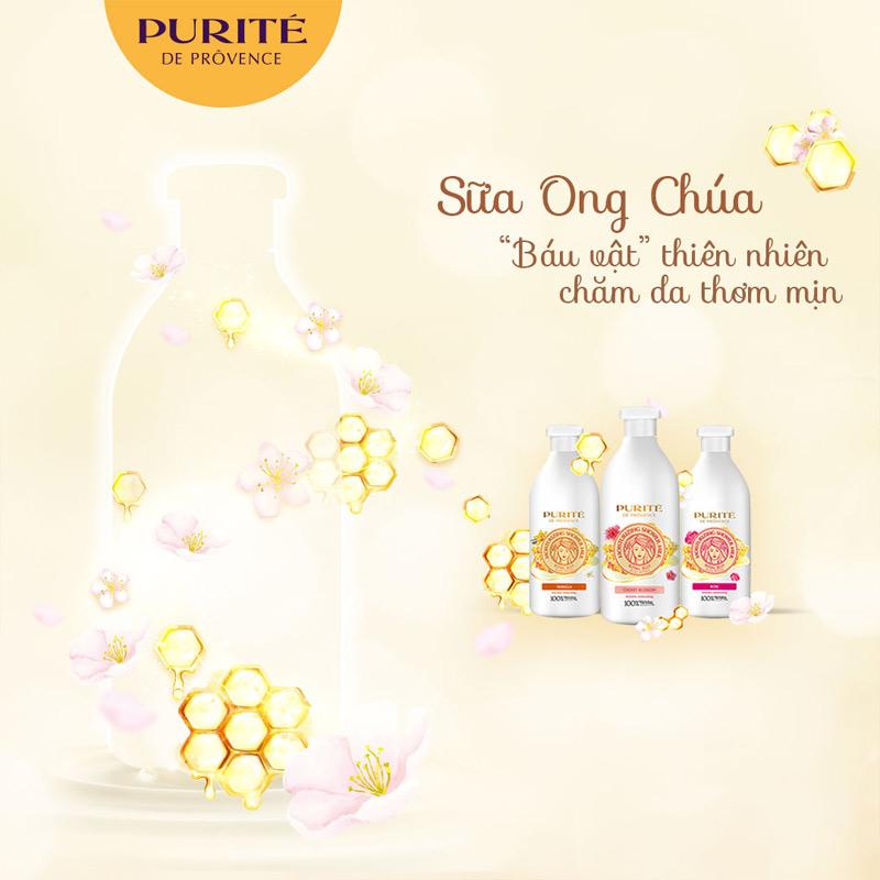 Sữa Tắm Purité Dưỡng Ẩm Sữa Ong Chúa 850ml