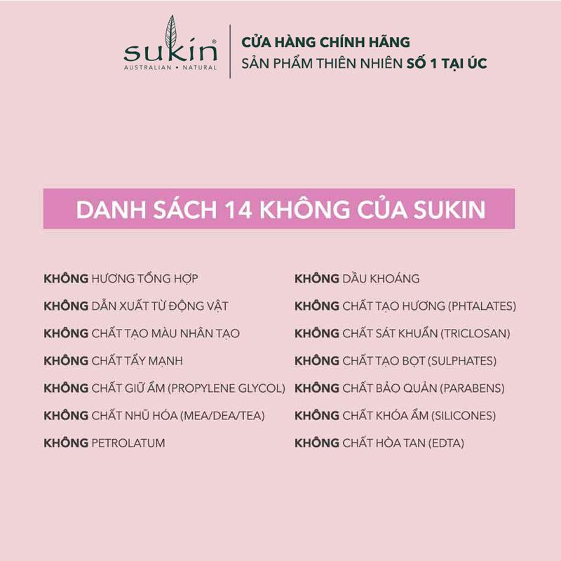 Độ an toàn Sữa Tắm Sukin Không Xà Phòng Cho Da Nhạy Cảm Sensitive Soap Free Body Wash 500ml