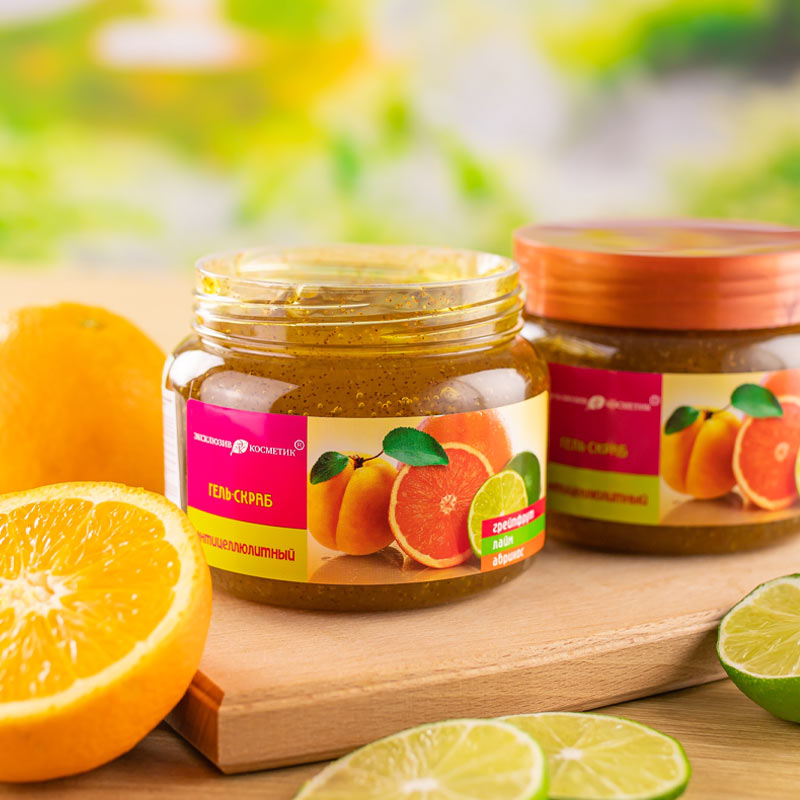 Eksklyuziv Kosmetik Gel Scrub Grapefruit Lime Apricot 380g