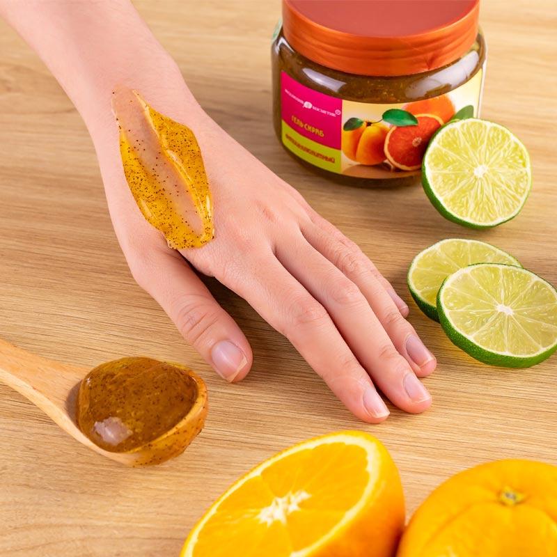 Tẩy Da Chết Toàn Thân Eksklyuziv Kosmetik Chiết Xuất Chanh Đào Gel Scrub Grapefruit Lime Apricot