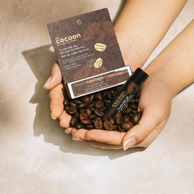Tẩy Tế Bào Chết Môi Cocoon Từ Cà Phê Đắk Lắk Dak Lak Coffee Lip Scrub 5g Hasaki