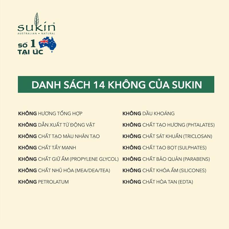 Độ an toàn Tẩy Tế Bào Chết Sukin Signature Cho Da Mặt Signature Revitalising Facial Scrub 125ml