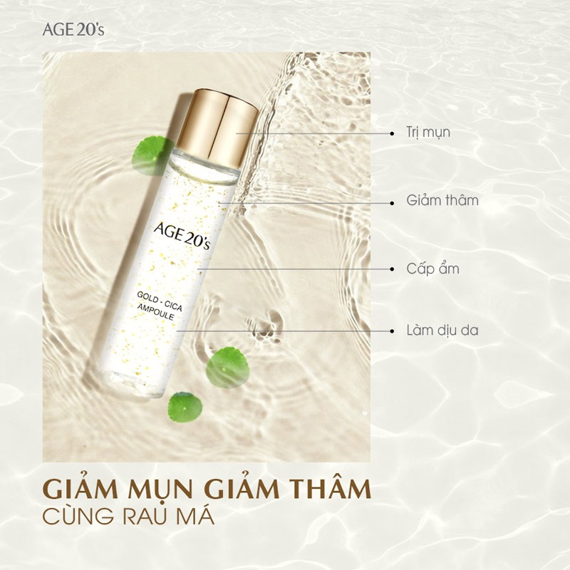 Công dụng Tinh Chất Age20's Gold Cica Ampoule 10ml x 5