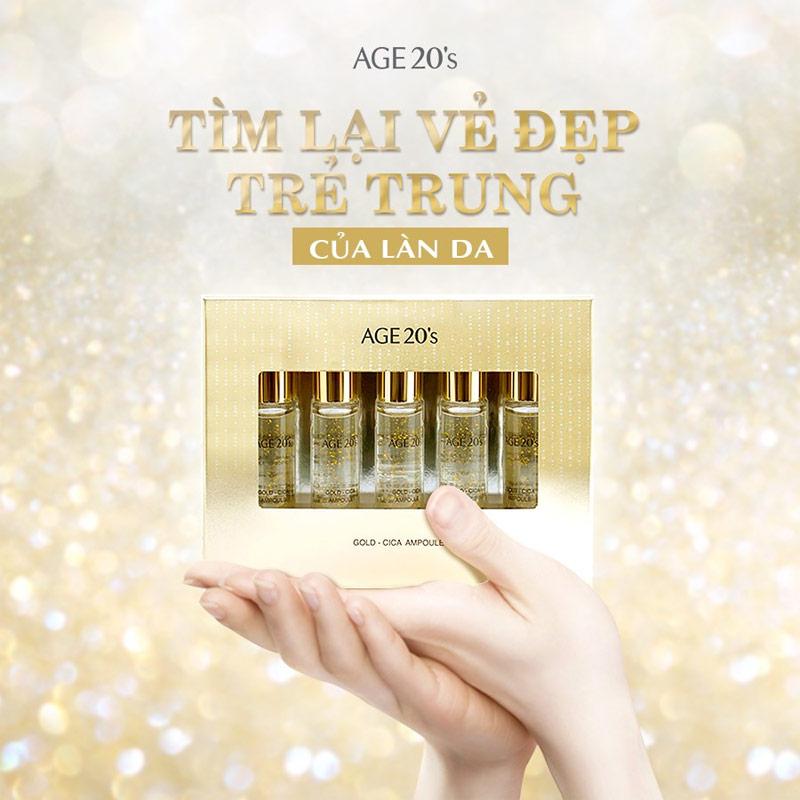 Tinh Chất Age20's Gold Cica Ampoule 10ml x 5
