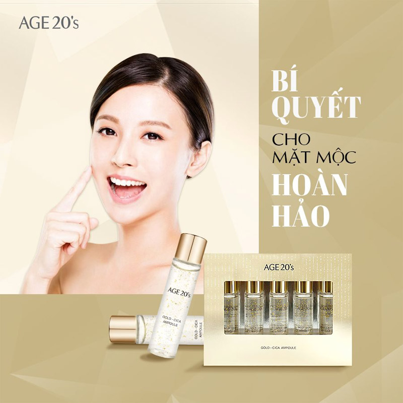 Tinh Chất Age20's Gold Cica Ampoule 10ml x 5 Hasaki