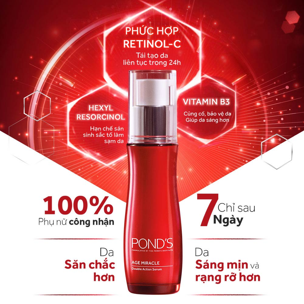 Tinh Chất Pond's Age Miracle Double Action Serum 30ml