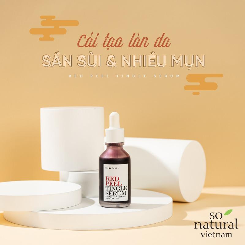 Tinh Chất So'Natural Làm Giảm Mụn, Tái Tạo Làn Da Red Peel Tingle Serum Facial Peeling Serum 35ml