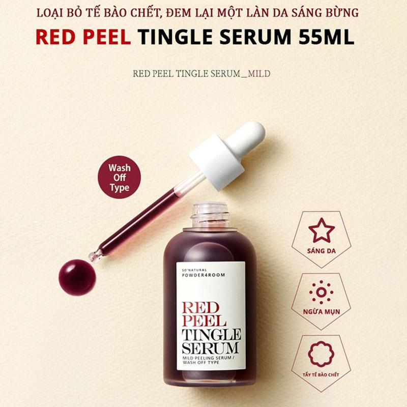 Tinh Chất So'Natural Làm Giảm Mụn, Tái Tạo Làn Da Red Peel Tingle Serum Mild Peeling Serum 55ml