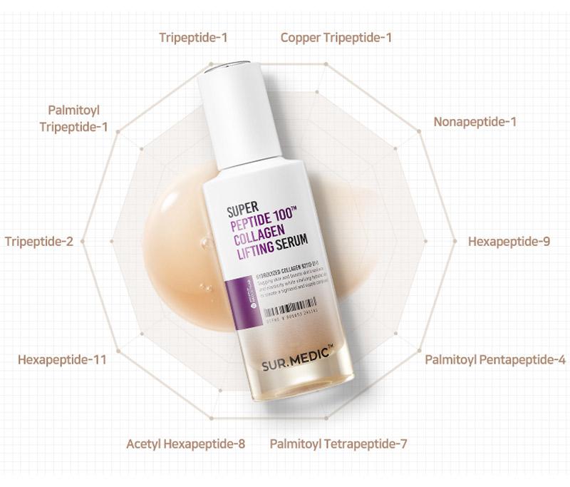 Tinh Chất Sur.Medic+ Làm Săn Chắc & Ngăn Lão Hóa Super Peptide 100™ Collagen Lifting Serum