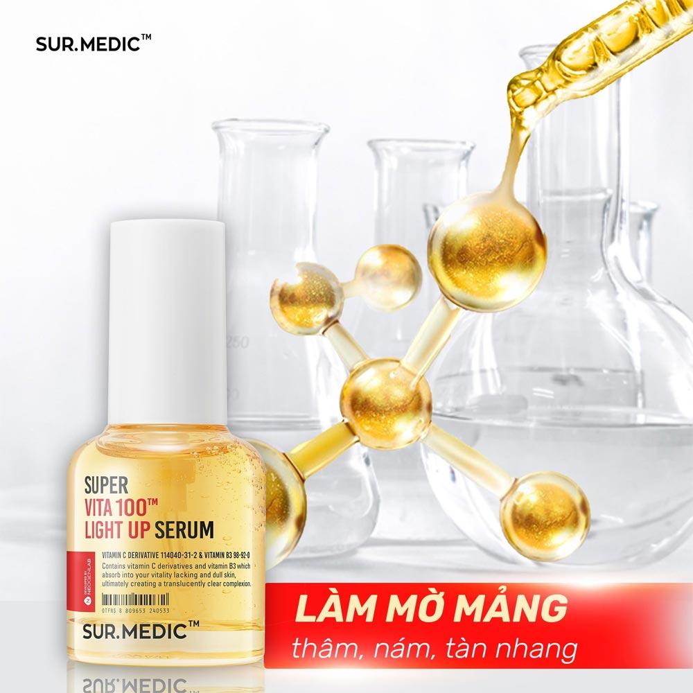 Tinh Chất Sur.Medic+ Super Vita 100TM Light Up Serum 30ml