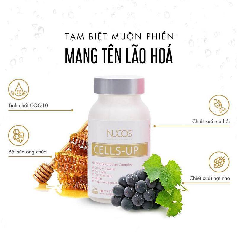 Viên Uống NUCOS Giúp Giảm Nhăn, Ngừa Lão Hóa Cells-Up