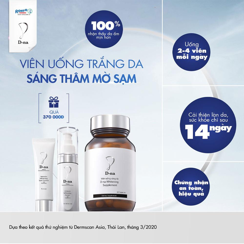 Viên Uống Sáng Da D-Na Whitening Supplement 60 Viên