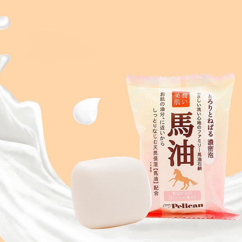 Xà Phòng Rửa Mặt Pelican Chiết Xuất Từ Dầu Ngựa Horse Oil Facial Soap 100g
