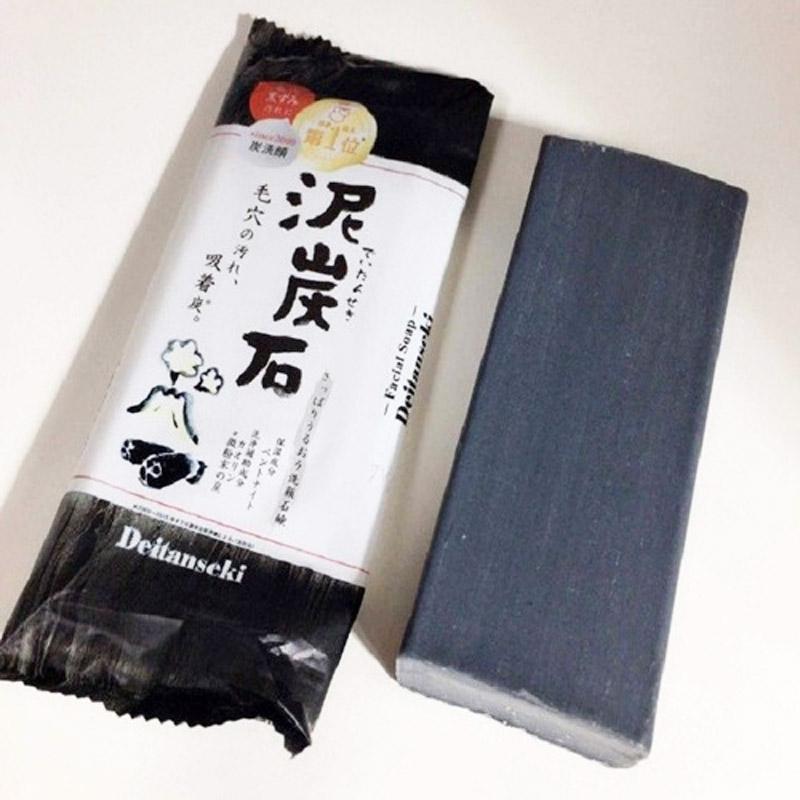 Xà Phòng Rửa Mặt Pelican Chiết Xuất Từ Than & Bùn Deitanseki Clay & Charcoal Facial Cleansing Bar 100g