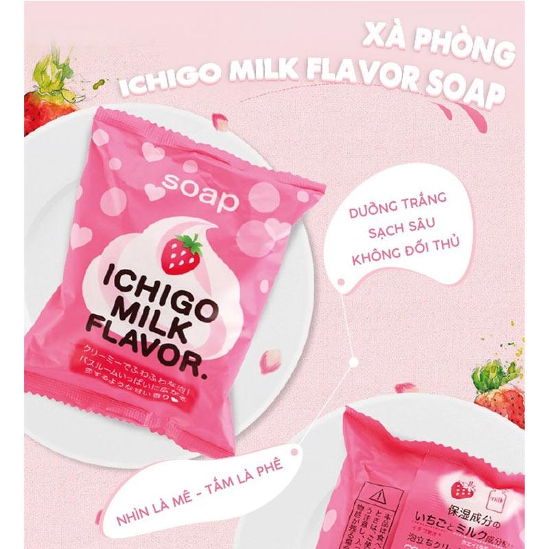 Xà Phòng Tắm Pelican Chiết Xuất Sữa Và Dâu Tây Ichigo Milk Flavor Body Soap