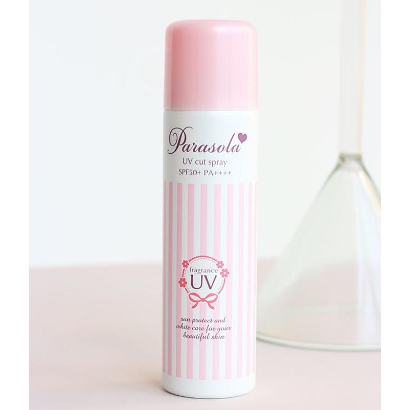 Xịt Chống Nắng Naris Màu Hồng SPF50+ PA+++ Parasola Fragrance UV Cut Spray 50g