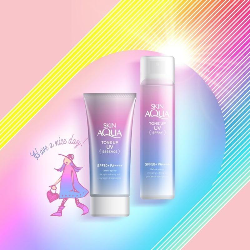 Xịt Chống Nắng Sunplay Skin Aqua Nâng Tone Da Skin Aqua Tone Up UV Spray SPF50+ PA++++