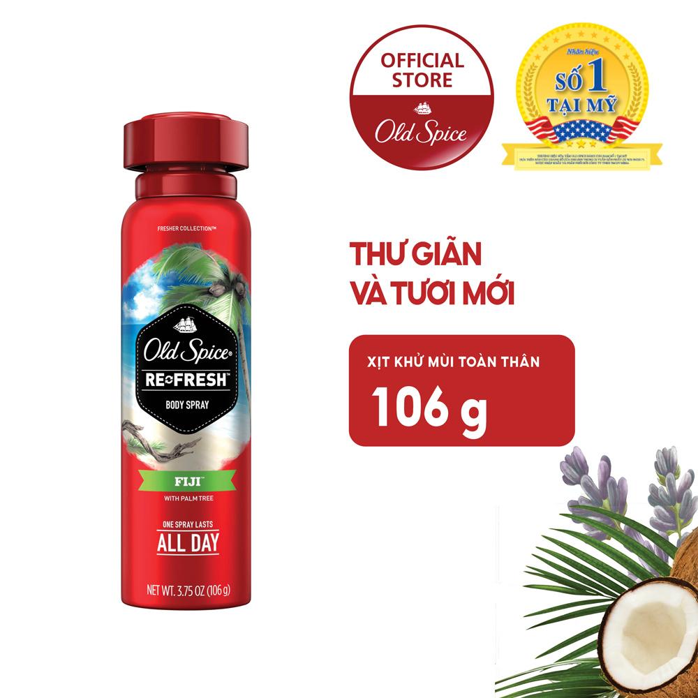 Xịt Khử Mùi Old Spice Cho Nam Fiji Hương Cây Cọ 106g