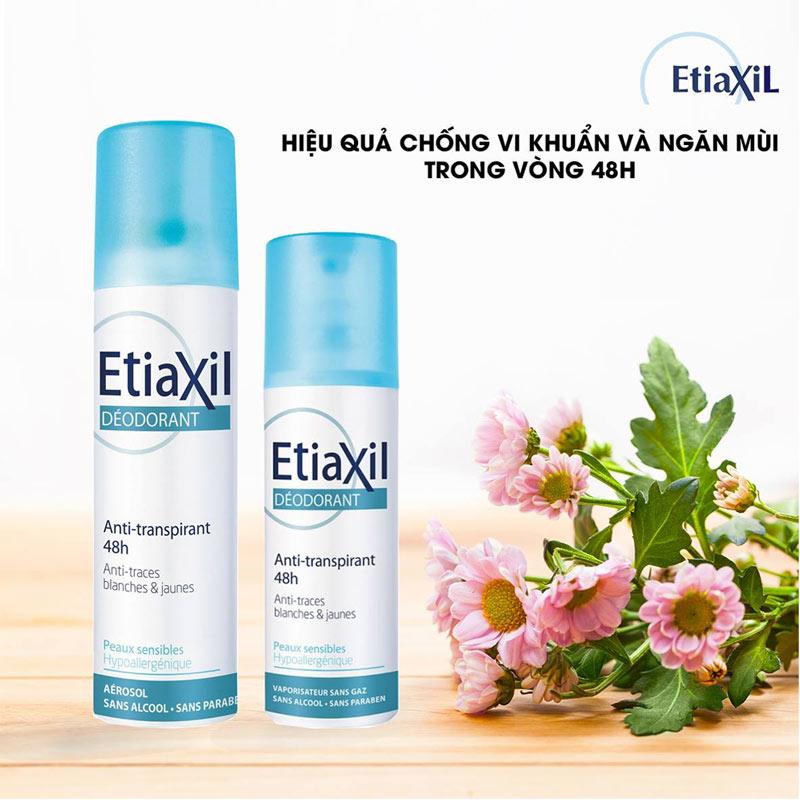 Xịt Khử Mùi EtiaXil Deodorant Anti-Transpirant 48h Spray Armpits