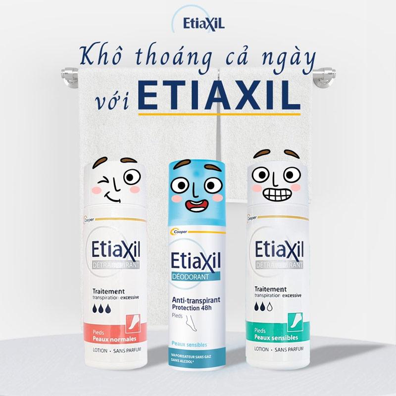 EtiaXil Detranspirant Traitement Lotion giữ da khô thoáng cả ngày dài.