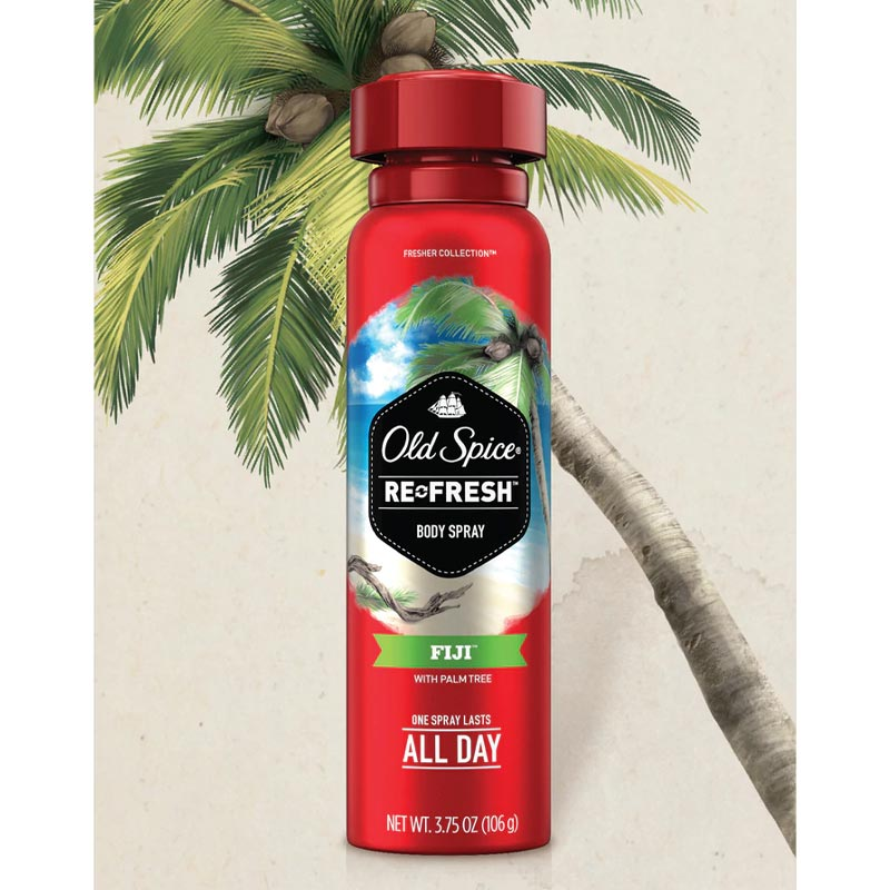 Xịt Khử Mùi Old Spice Cho Nam Hương Fiji & Cây Cọ Fresher Fiji Scent Body Spray For Men 106g