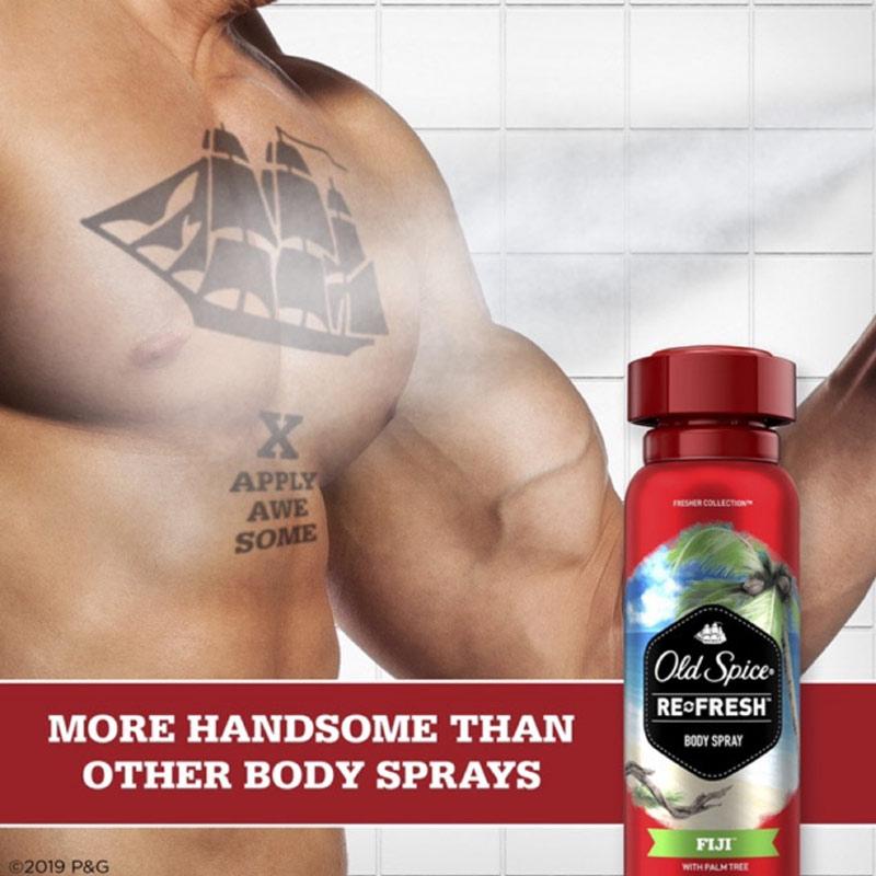Xịt Khử Mùi Old Spice Cho Nam Hương Fiji & Cây Cọ Fresher Fiji Scent Body Spray For Men