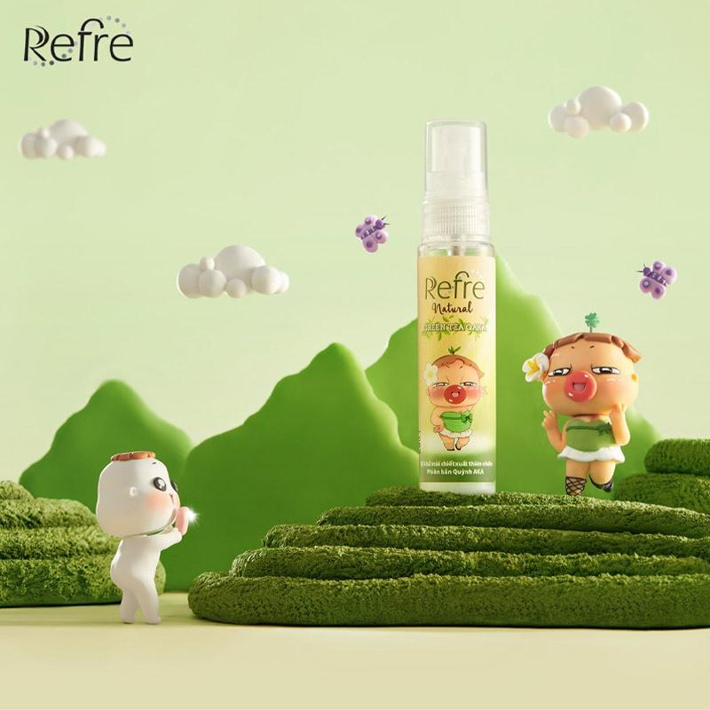 Xịt Khử Mùi Refre Hương Trà Xanh Phiên Bản Quỳnh Aka Natural Green Tea QAKA 30ml