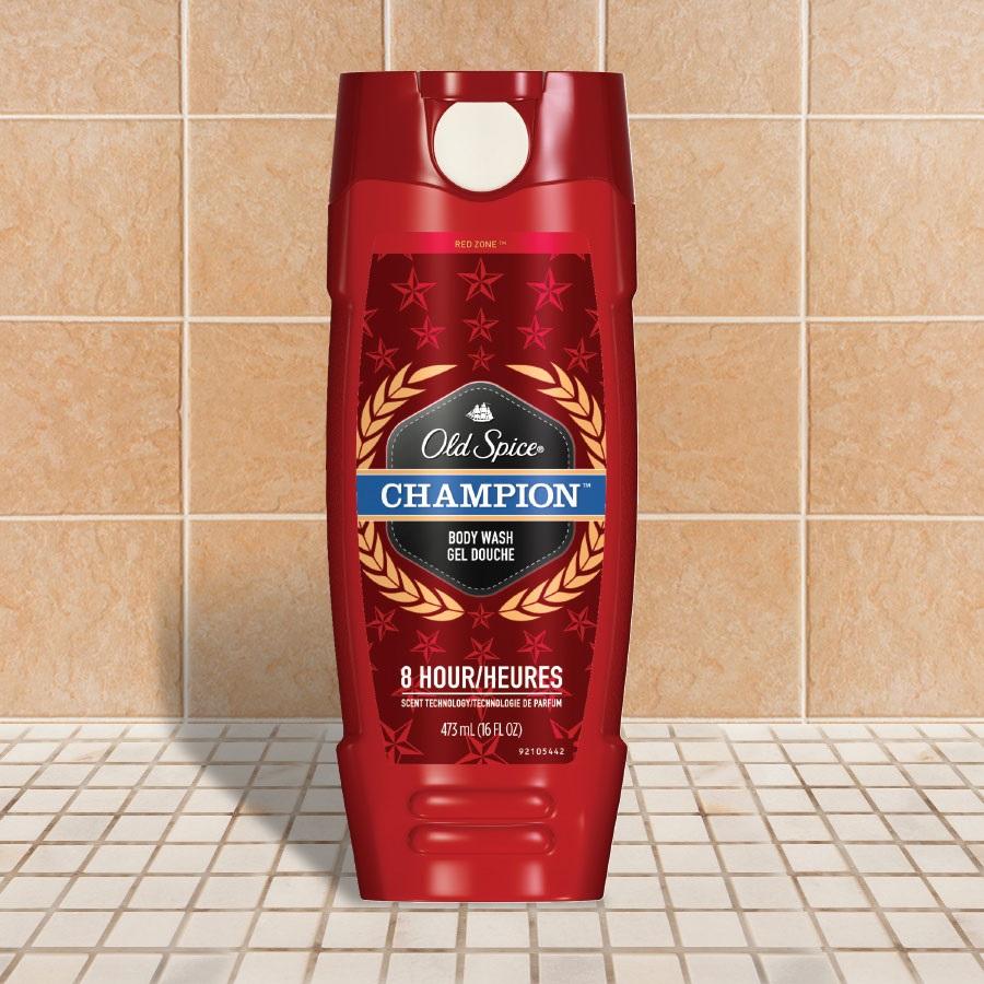 Sữa Tắm Dưỡng Da Dành Cho Nam Old Spice Red Zone Body Wash Champion - 473ml