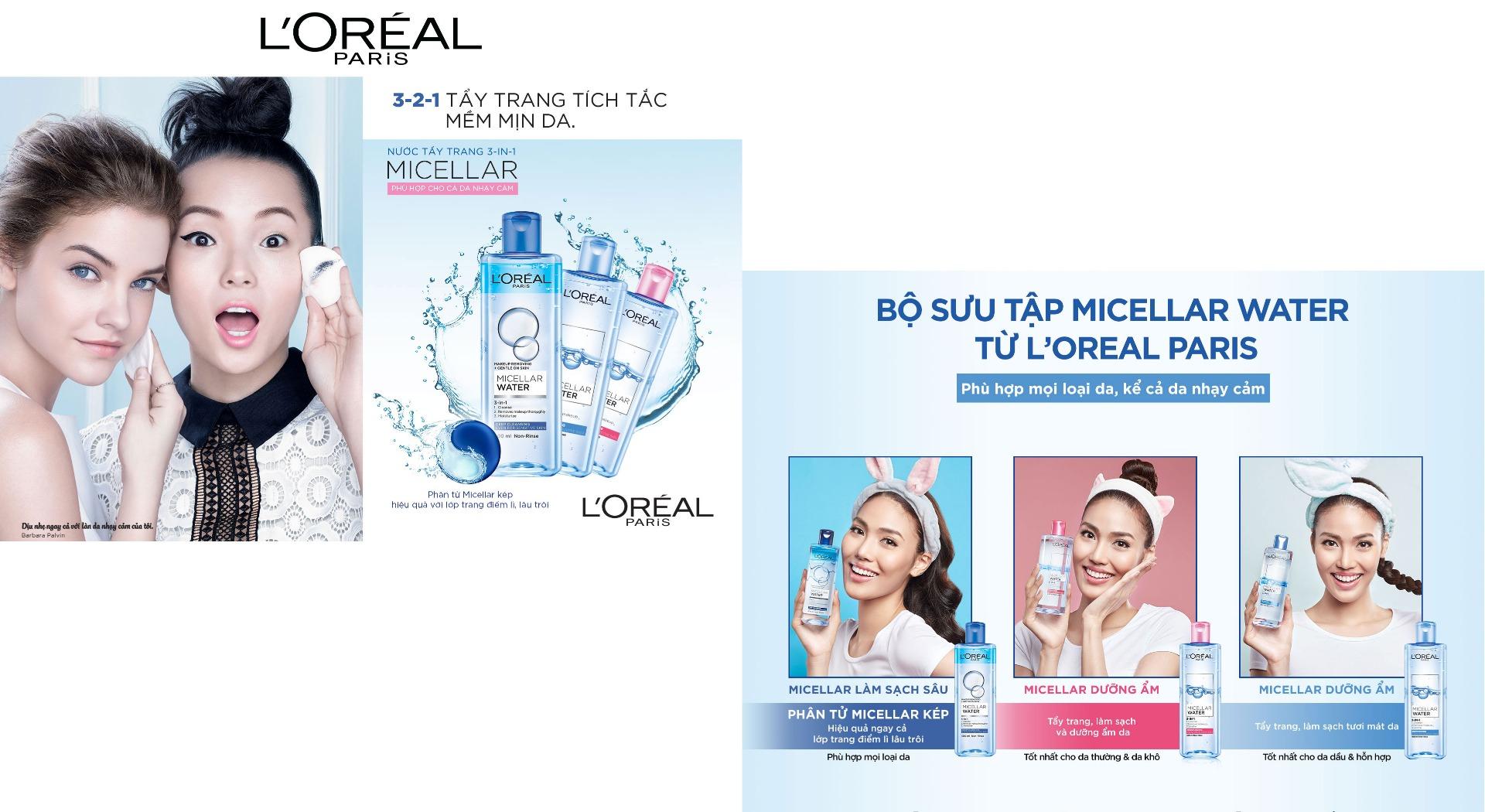 Nước Tẩy Trang L'Oreal Micellar Water 3-In-1