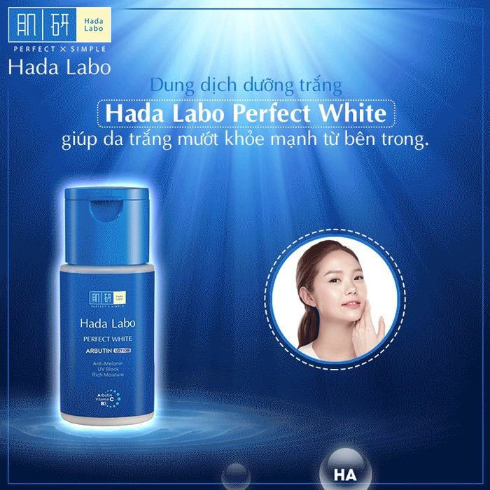 Dung Dịch Hada Labo Perfect White Arbutin Lotion