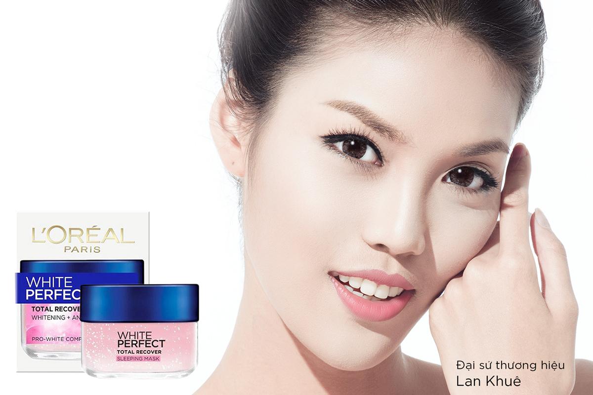 Kết quả hình ảnh cho Mặt Nạ Ngủ L'oréal White Perfect