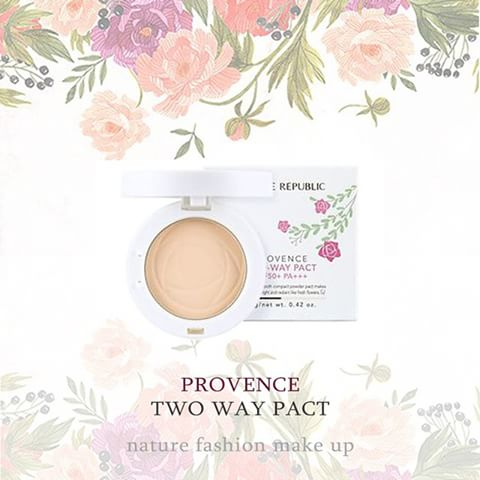 Phấn Phủ Nature Republic Provence Creamy Two Way Pact 23 Natural Beige SPF50+ PA+++