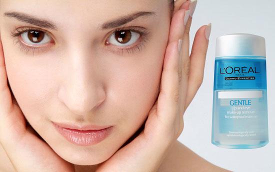 Nước tẩy trang mắt và môi L'ORÉAL Gentle Lip And Eye Make Up Remover 125ml