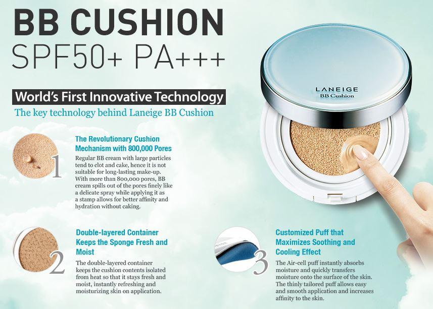 Phấn Nước Kiềm Dầu Kèm Lõi Thay Thế Laneige BB Cushion Pore Control SPF50+ PA+++ - 23 Sand - (5gr )