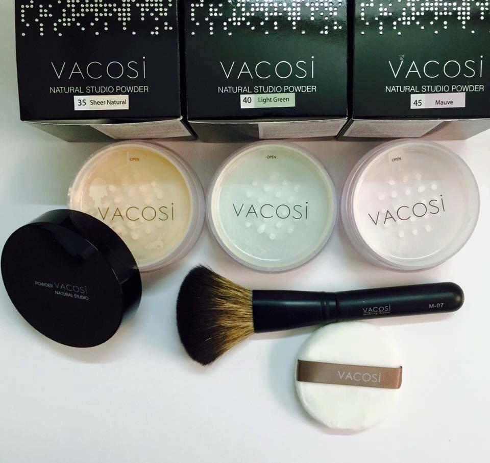Phấn Phủ Dạng Bột Màu Xanh Vacosi Loose Powder  SPF15 ( 45 Mauve- 10g )