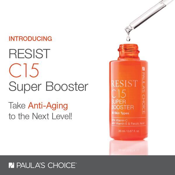 Tinh chất hỗ trợ lão hóa chứa Vitamin C PAULA'S CHOICE Resist C15 Super Booster 20ml