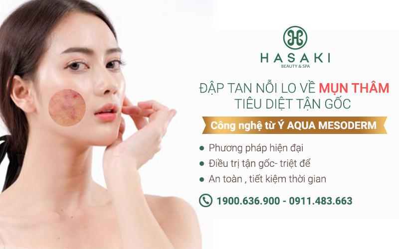 AQUA MESODERM công nghệ làm đẹp tiên tiến đến từ Ý, điều trị các bệnh về da như mụn, trị thâm và làm sáng da hiệu quả. Hasaki chất lượng cho tất cả