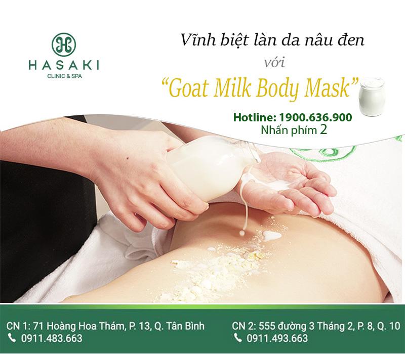 Goat Milk Body Mask giúp bạn sở hữu làn da trắng sáng một cách nhanh chóng nhất.