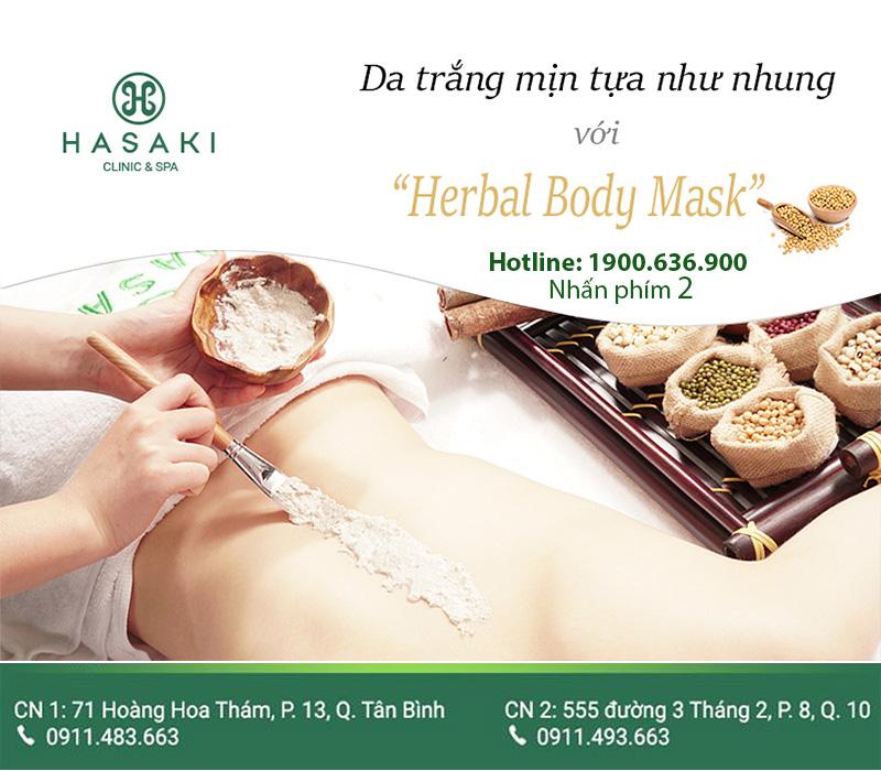 Herbal Body Mask da trắng sáng cùng thảo mộc thiên nhiên.