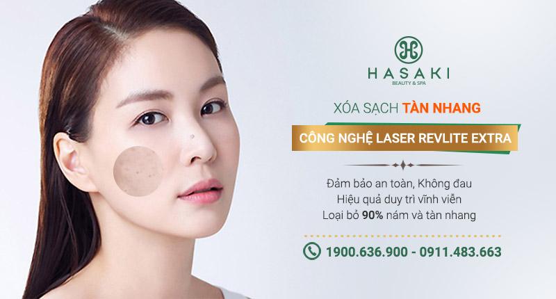 Trị tàn nhang công nghệ Laser Revlite Extra giúp loại bỏ tàn nhang nhanh chóng, hiệu quả và an toàn. Hasaki chất lượng cho tất cả