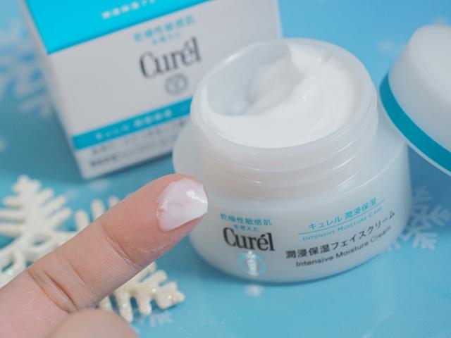 Kết cấu Kem Dưỡng Curél Intensive Moisture Care Intensive Moisture Cream 40g