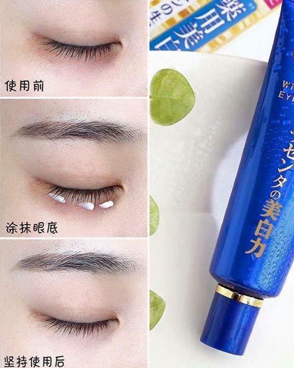 Kem Dưỡng Mắt Meishoku Placenta Medicated Whitening Anti-wrinkle Eye Cream