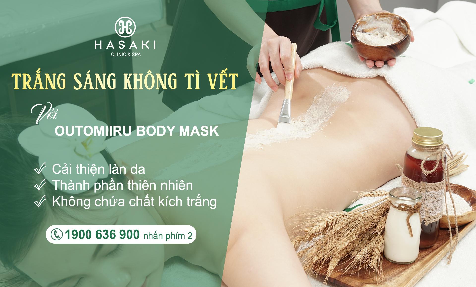 Ủ dưỡng toàn thân với Outomiiru Body Mask