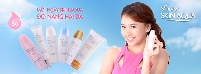 Gel Chống Nắng Dưỡng Trắng Da SPF50+ PA++++ Skin Aqua-Silky White 70g